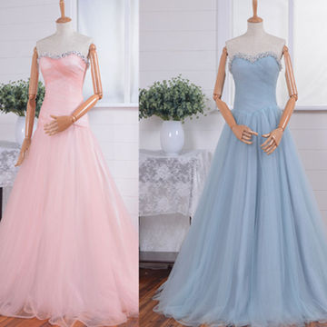Sweetheart Floor-length A-line Chiffon Prom Dresses 2018