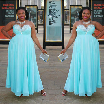 Sexy Plus Size Sweetheart Empire Waist Prom Dresses 2018