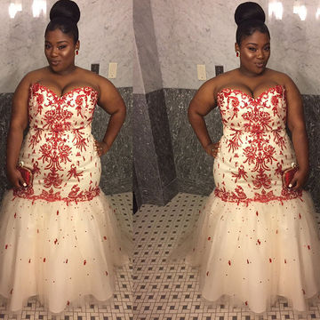 Sexy Plus Size Sweetheart Tulle Dresses 2017
