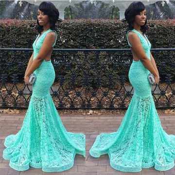Sexy Mermaid Evening Lace/Pageant/Formal/Prom Dresses 2018