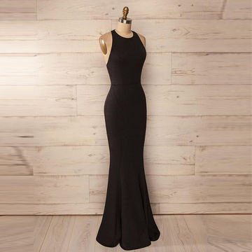 Sexy Sleeveless Backless Long Mermaid Prom Dresses 2017