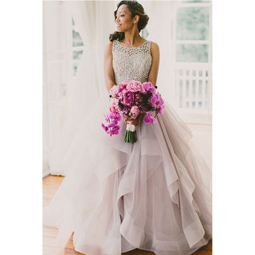 Beading Ball Gown Organza Prom Dresses 2018